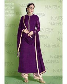 Purple Embroiderd Salwar Suit