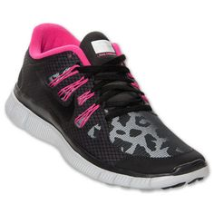 Nike+Women+Free+5.0+Shield+Running+Shoes+Leopard+Print+Black/Pink+615987-006+***+#Nike+#RunningCrossTraining