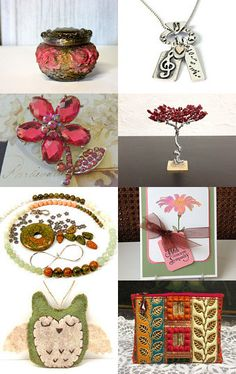 Weekend pretties by ruthsartwork from ruthsartwork on Etsy--Pinned with TreasuryPin.com