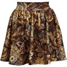 Miss Selfridge Tapestry Skater Skirt