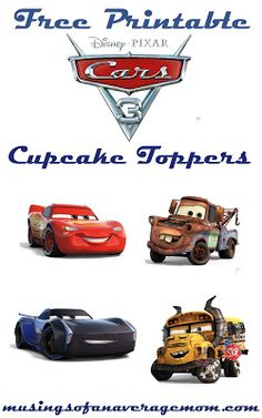 The Ultimate Pinterest Party, Week 153 | Cars 3 cupcake toppers