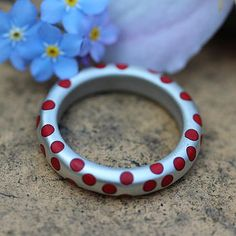 Fat Dotty Ring Bright Red