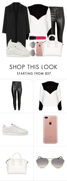 """MAC"" by fashionista-sweets ❤ liked on Polyvore featuring River Island, Topshop, NIKE, Belkin, Givenchy, Roberto Cavalli and MAC Cosmetics"