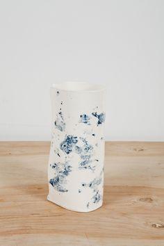 Blue Speckeled Vase