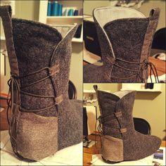I've been working on Rey boot covers this week. They're turning out pretty awesome, but still need some dirt on them. #cosplay #starwars #forceawakens