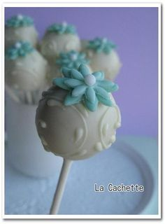 White Cake Pops