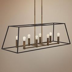 """Hinkley Fulton 8-Light 48"""" Wide Bronze Chandelier Finish: bronze with heritage brass 8, 60W candle bulbs 48""""W x 15 3/4""""H max hanging height = 60.75"""