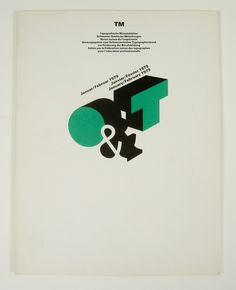 Cover from 1979 issue 1 (Cover Design: Odermatt & Tissi) Cover Design, Book Design, Type Design, Design Web, Print Design, Herb Lubalin, Typography Poster, Graphic Design Typography, Japanese Typography