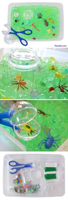 Creepy Crawler Bugs Discovery Box and preschool sensory bin from Revelae Kids