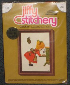 Vintage 1974 Cookin' Jiffy Stitchery Kit #704 Sunset Designs New in Package