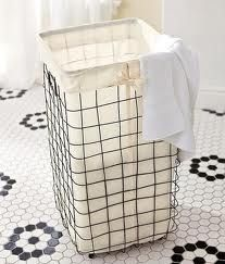 Wire Laundry Basket from Pottery Barn. DIY with hardware cloth? For outdoor toys