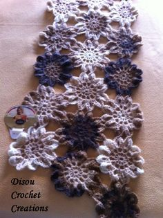 Since long I´ve not heard from Disou ... / My chocolate vanilla flower scarf - It measures more than 2 meters!!  Disou Crochet Creations