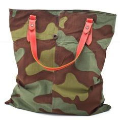chissene TOTE BAG MILITARY ❤ liked on Polyvore