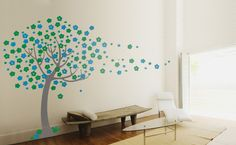 Tree Blowing in the wind Vinyl Wall Sticker for kids