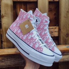 Pink Dr Style X Converse Platform by b1customapparel Dr Shoes, Swag Shoes, Hype Shoes, Me Too Shoes, Pink Shoes, Mode Converse, Outfits With Converse, Pink Converse, Converse Shoes Outfit