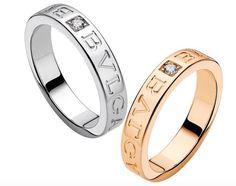 bulgari bvlgari 18 kt yellow gold and diamond ring size 7 bvlgari band