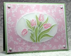 Pergamano Tulips by labullard - Cards and Paper Crafts at Splitcoaststampers
