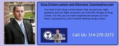 You need a best drug crimes lawyer that can give you right guidance and can fight to protect you from the charges of drug crimes. For this you can meet experienced lawyers at from http://tysonmutrux.com/criminal-defense/drug-crimes/