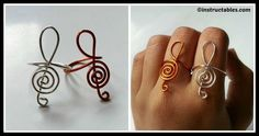 DIY Treble Clef Ring Tutorial Ring Tutorial, Treble Clef, Piece Of Cakes, Diy Fashion, Personalized Gifts, Jewels, Creative, Rings, How To Make