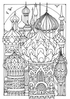 Coloring page towers - coloring picture towers. Free coloring sheets to print… Adult Coloring Pages, Colouring Pages, Printable Coloring Pages, Coloring Sheets, Free Coloring, Coloring Books, Kids Colouring, Mandala Coloring, Doodle Art