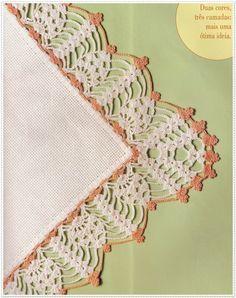barrados em croche quatro cantos em croche com receita