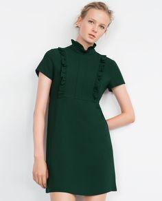 SHORT SLEEVE DRESS-Mini-Dresses-WOMAN   ZARA Andorra