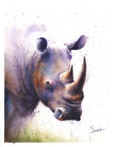 Life is just better with animals around! Light up your home and spirit with this fine art print of my watercolor african black rhino painting. I hope you enjoy this very meaningful and personal artwork. ________________________________________________________ SIZE: choose the size that