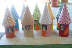 Casetta uccellini con tubi carta igienica - Paperblog