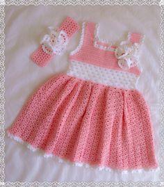 Crochet Pink dress