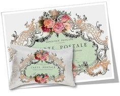 Digital Collage Sheet Download Carte Postale Image by vintagebyme