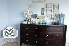 How to Style a Long, Low Dresser