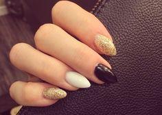 White...black and glitter.