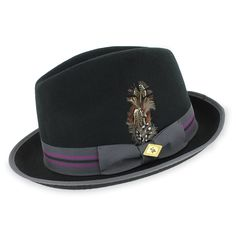 Stacy Adams Neville - Crushable Wool Felt Fedora Hat