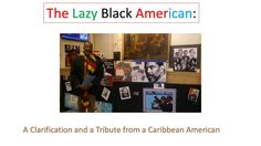 Tribute to the African Americans