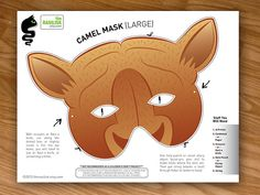 Camel Mask Photo Booth Prop Costumes for Kids by theRasilisk