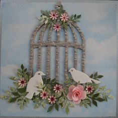 Tim Holtz Birdcage Card ! by Dee Ferguson - Cards and Paper Crafts at Splitcoaststampers