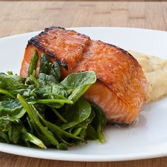 Honey Ginger Salmon and Perfect Quick Spinach | chaos in the kitchen