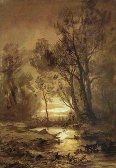 Brook in a Forest - Fyodor Vasilyev