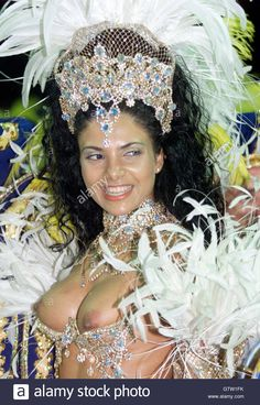 Carnival queen Fabia Borges dances to the beat at the Sambadrome in Rio de Janeiro March