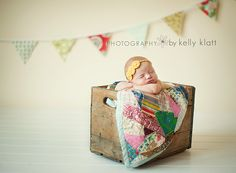 Sweet newborn baby set up