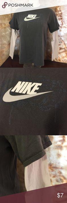 Long sleeve tee Short and long sleeves in one. Women's Nike shirt. Worn a few times. Nike Tops Tees - Long Sleeve