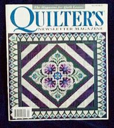 Quilter�s Quilters Newsletter Magazine #291 1997 April