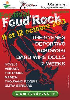 Festival Foud'Rock. Du 11 au 12 octobre 2013 à Magny les Hameaux.