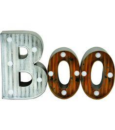Halloween Boo LED Tabletop DecorHalloween Boo LED Tabletop Decor,