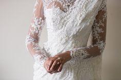 White Lace Bridal Saree | South Asian Wedding Blog | Think Shaadi