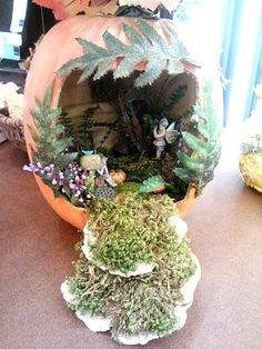 My Home For The Holidays: Pumpkin Fairy Garden