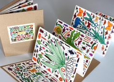 Weeds and Pests by John Dilnot. Edition of 300 screen printed throughout accordion Concertina Book, Accordion Book, Diy With Kids, Art For Kids, Up Book, Book Art, Paper Art, Paper Crafts, Handmade Books