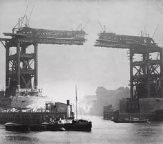 C1890 - the twin spans of Tower Bridge creep ever closer - read tales of the old East End here http://www.the-east-end.co.uk