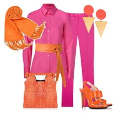 naranja y fucsia by outfits-de-moda2 on Polyvore featuring moda, HUGO, Preen, Reed Krakoff, Thalé Blanc, ASOS, Basile and Isabella Oliver