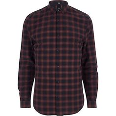 Big and Tall red check long sleeve shirt £28.00